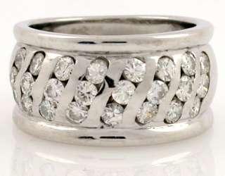 00 CT Round DIAMONDS wedding BAND RING 18K GOLD SZ 7