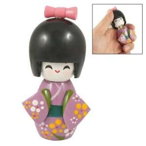 Kimono Smiling Girl Kokeshi Doll Wooden Toy: Arts, Crafts & Sewing