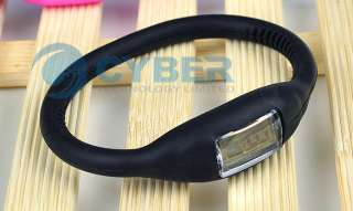 Ion Jelly Silicone Rubber Sports Wrist Watch Bracelet
