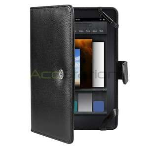 Folio Leather Cover Case For  Kindle Fire 7 7 Tablet NEW