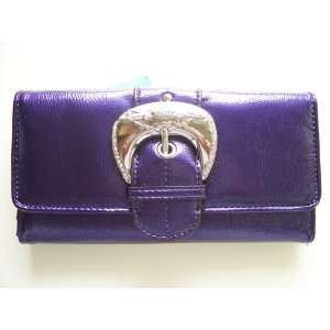 Kathy Van Zeeland Purple Rock & Roll Clutch Everything