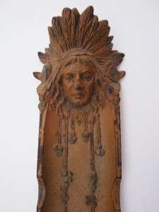 BRADLEY & HUBBARD American Indian Pen Tray Pencil Desktop Cast Iron