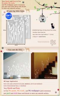 SS 229 REED MURAL DECALS DECO WALL PAPER STICKER