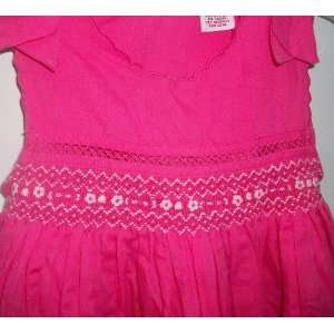Girl 4t, 4 Fuchsia Dark Pink Dress Frock Smoked Top: Baby