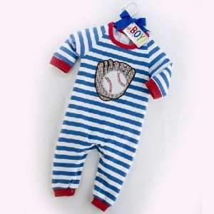 SLEEPER Pajamas PJ Blue Baby Boy Gift 9 12 mos