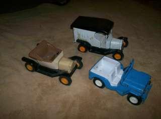 Lot 3 Older Tonka Trucks Milk Truck, Jeep Etc