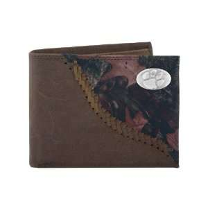 NCAA Clemson Tigers Camo Leather Bifold Concho Wallet, One