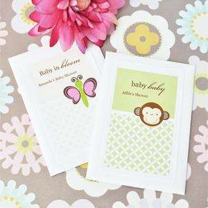 24   Personalized Baby Animal Flower Seed Shower Favors