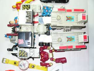 Vtg Toy Lot Transformers G1 Marx Mickey Mouse Watch, Super Powers