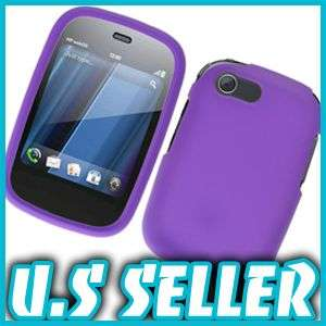 RUBBER PURPLE HARD SNAP CASE COVER FOR HP VEER+4G