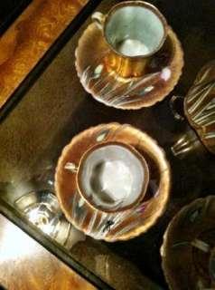 Beautiful Nippon Royal Hinode Gold Chocolate Pot Set Hand Painted