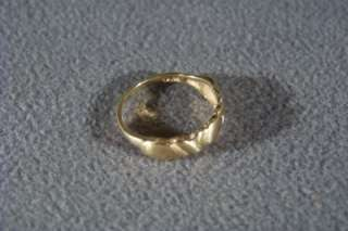 ANTIQUE 10 K GOLD X ETERNITY WIDE WEDDING BAND RING 7