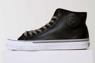 PF FLYERS CENTER HI REISS BLACK LEATHER HIGH TOP SNEAKERS