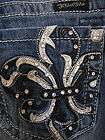 Miss Me Jeans Brand New Silver Border Skinny Rhinestones Stretch Denim