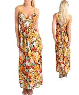 WOMENS DRESS Maxi babydoll floral print Sexy S M L