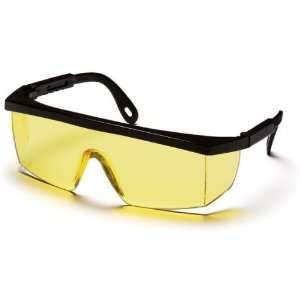 Pyramex Integra Safety Glasses   Amber Lens, Black Frame