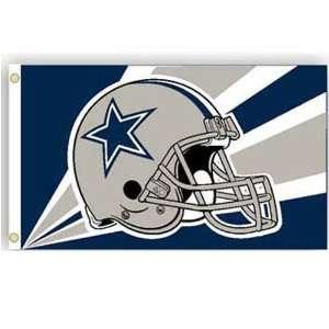 Dallas Cowboys NFL Helmet Design 3x5 Banner Flag by