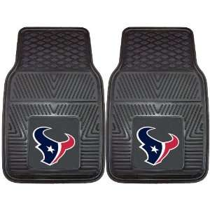 NFL Houston Texans 2 Piece Heavy Duty Vinyl Floor Car Mat