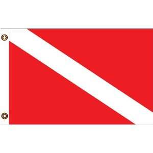 SKIN DIVER Message Flag 12in x 18in: Patio, Lawn & Garden