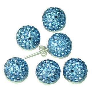 6mm 8mm 10mm 12mm 14mm Ball Pave Crystal Rhinestone Spacer Bead