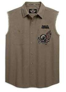 HARLEY DAVIDSON® MENS SLEEVELESS BLOWOUT SHIRT WITH BACK GRAPHIC