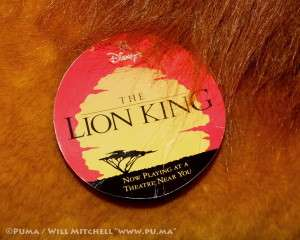King LIFE SIZE adult Simba / Mufasa plush stuffed toy 1994 NWT
