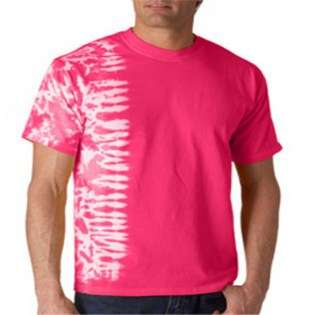 Gildan Tie Dyes Adult One Color Fusion Tee Shirt Pink Med