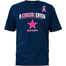 Dallas Cowboys Breast Cancer Awareness The Crucial Catch T Shirt