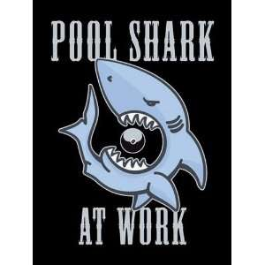 MSC10553 POOL SHARK AT WORK HUMOUR FUNNY EXTRA LARGE METAL ADVERTISING