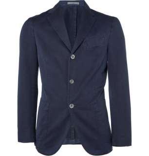 Blazers  Single breasted  Slim Fit Washed Cotton Blend Blazer