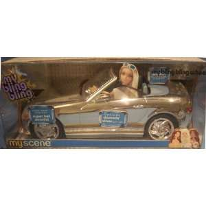 Barbie My Scene My Bling Bling Wheels Chrome Car with Silver Paint Job