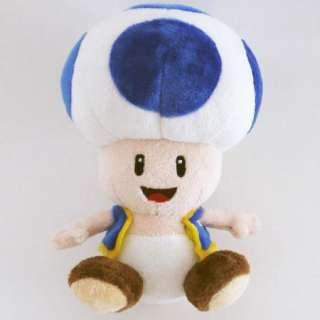 NINTENDO   Super Mario Plüsch Figur Wii Toad Blau