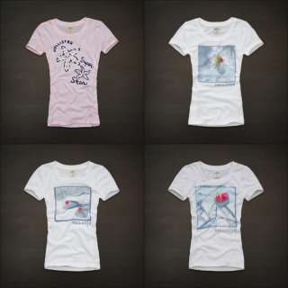 NWT Hollister by Abercrombie Women Bay Street Graphic Tee T Shirt Top