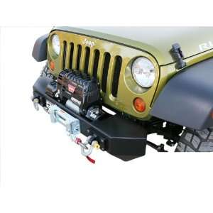 PJ1000 Front Winch Bumper; Stubby; w/Winch Provision; Automotive