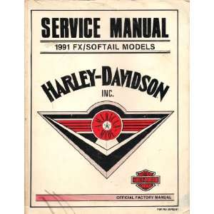 1991 FX Softail Models Service Manual: Harley Davidson