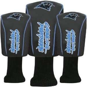 Carolina Panthers Black Three Pack Golf Club Headcovers