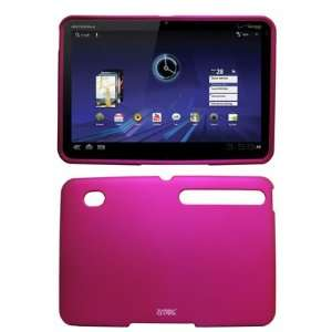 Pink Rubberized Hard Case Cover for Verizon Motorola Xoom Electronics