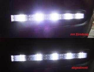 LITEC LED TAGFAHRLICHT SCHWARZ 20 LED AUDI A6 4F DIMMBAR ODER