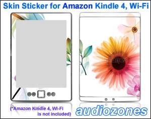 Vinyl Skin Sticker Decal Sunflower Sun Flower for  Kindle 4 Wi