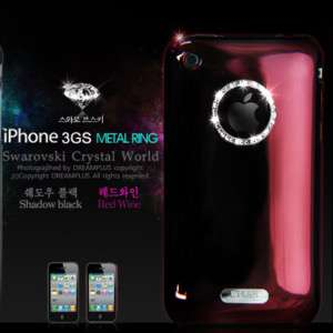 METAL RING Hard Back Case Cover For Apple iPhone 3gs