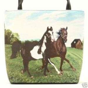 Mustang Horses Horse Bucket Purse Handbag Hand Bag Tote