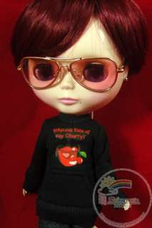 doll outfit eating cherry black hip hop long sleeves tee brand new