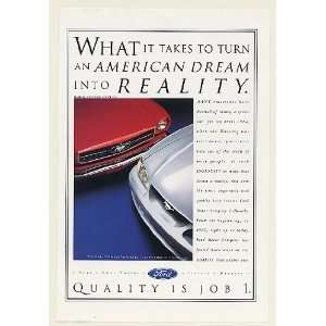 1994 Ford Mustang American Dream 1964 1/2 Mustang Print Ad