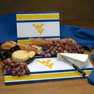 West Virginia Mountaineers NCAA Glass Cutting Board Set
