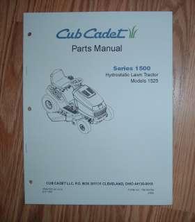 CUB CADET 1525 PARTS MANUAL WITH DIAGRAMS