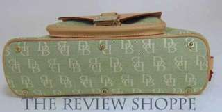 brand dooney bourke style small domed pocket satchel color green white