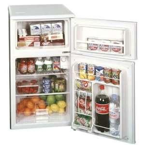 ft. Compact 2 Door Refrigerator Freezer with Manua