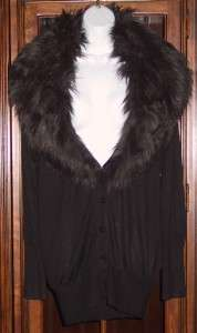 Victorias Secret 2011 ~ Silk & Cashmere Faux Fur Trim Cardigan