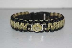 New Orleans Saints NFL Paracord Survival Bracelet