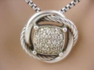 DAVID YURMAN 11MM .48 PAVE DIAMOND STERLING SILVER INFINITY NECKLACE